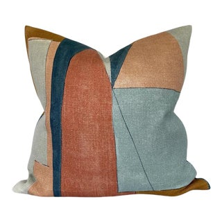 District Pillow Cover in Apricot For Sale