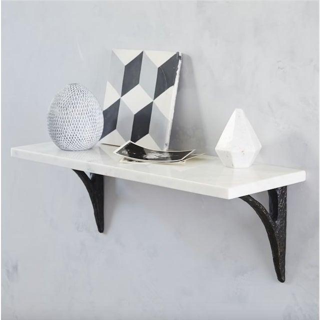 Modern Cast Iron Black Shelf Brackets - Set of 6 - Image 9 of 11