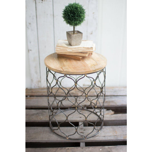 This lovely Arabesco patterned table with it's mango wood top is a fabulous accent side table for any room. It works with...