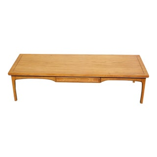 Vintage Mid Century Modern Long Coffee Table With Drawer 1960's For Sale