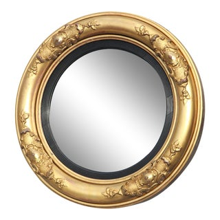 Period William IV Giltwood Convex Mirror For Sale