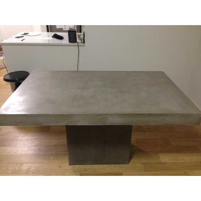 CB Fuze Concrete Dining Table Chairish - Concrete dining table for sale