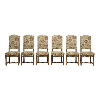 Vintage French Dining Chairs - Set of 6 For Sale