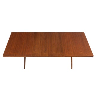 Robsjohn Gibbings Walnut Extention Dining Table with Two Leaves For Sale