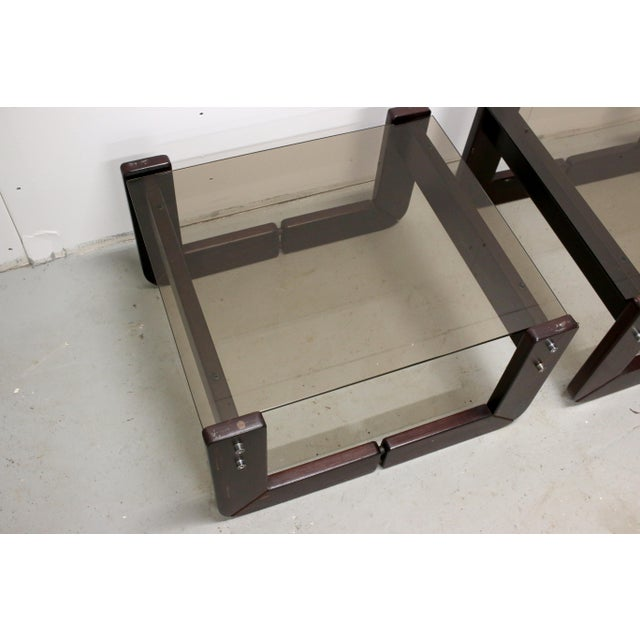 Wood Vintage Brazilian Percival Lafer Jacaranda Rosewood Side Tables - a Pair For Sale - Image 7 of 12