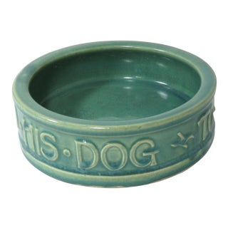 Vintage McCoy Art Pottery Dog Bowl For Sale