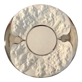 Vintage Italian Cherub Relief Ceramic Plate For Sale