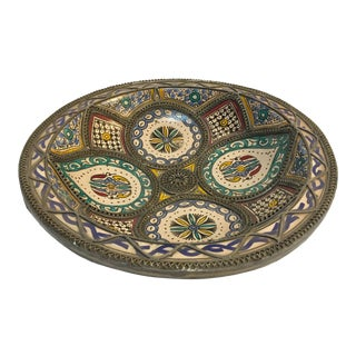 Decorative Moroccan Handcrafted Ceramic Bowl From Fez For Sale