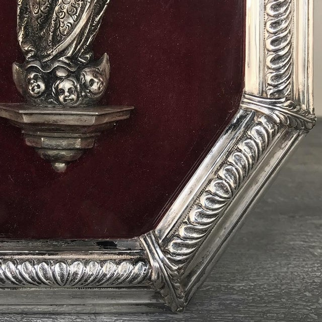 Metal 19th Century Madonna in Octagonal Frame For Sale - Image 7 of 12