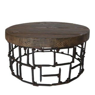 Round Rail Road Spike Table For Sale