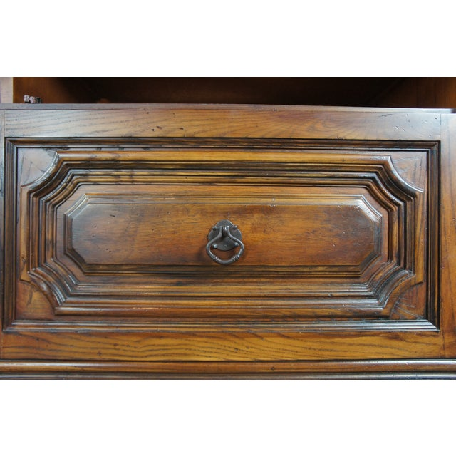 Wood Brutalist Ralph Lauren Old World English Style Oak Sheltering Sky Armoire For Sale - Image 7 of 13
