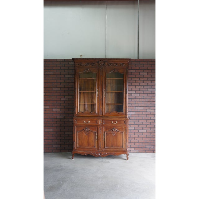 French Provincial Display Cabinet Hutch For Sale - Image 11 of 11