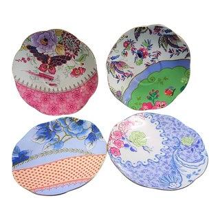 Wedgwood Butterfly Bloom Saucers Plates Liners - Set of 4 For Sale