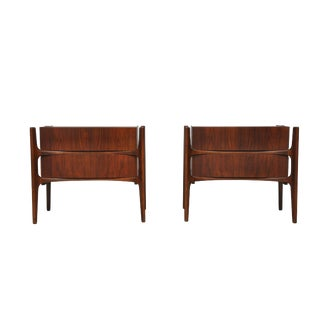 William Hinn Walnut Nightstands