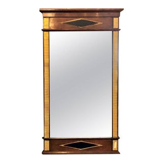 Bronze Mounted Mahogany Ebonized Russian Neoclassical Wall Mirror