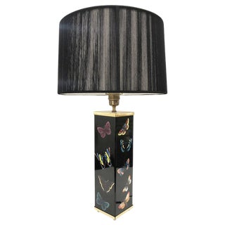 Piero Fornasetti Butterfly Motif Table Lamp, Italy, 1950's For Sale