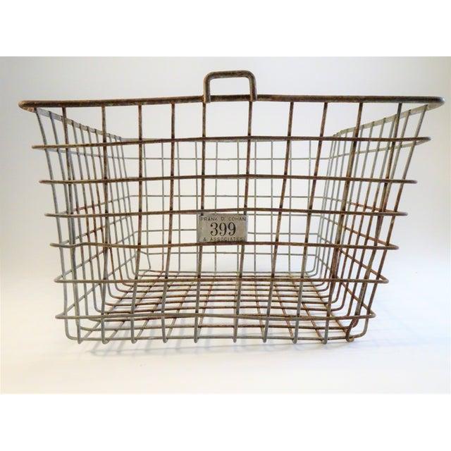 Vintage Wire Locker Baskets - Set of 3 For Sale In Seattle - Image 6 of 11