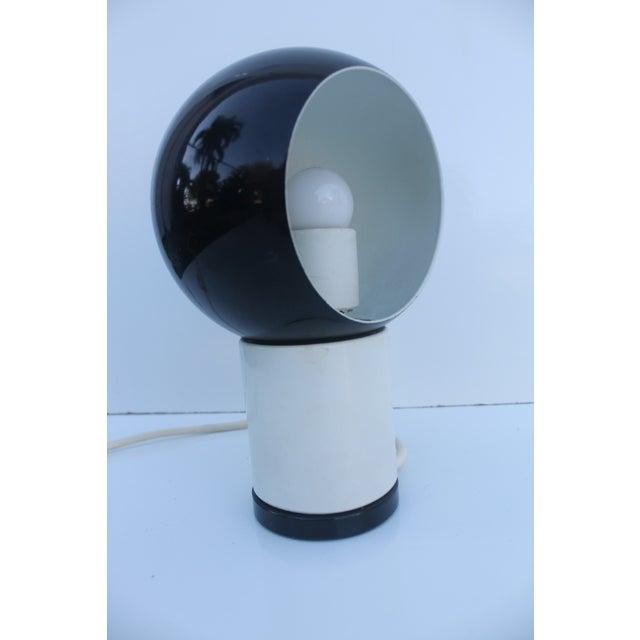 Valenti & Co. Italian Mod White & Black Table Lamp - Image 2 of 9