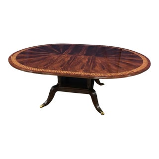 Traditional Leighton Hall Custom Round Mahogany Dining Table For Sale