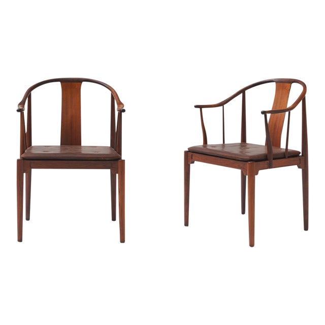 """Pair of Rosewood """"China"""" Chairs by Hans J Wegner For Sale"""