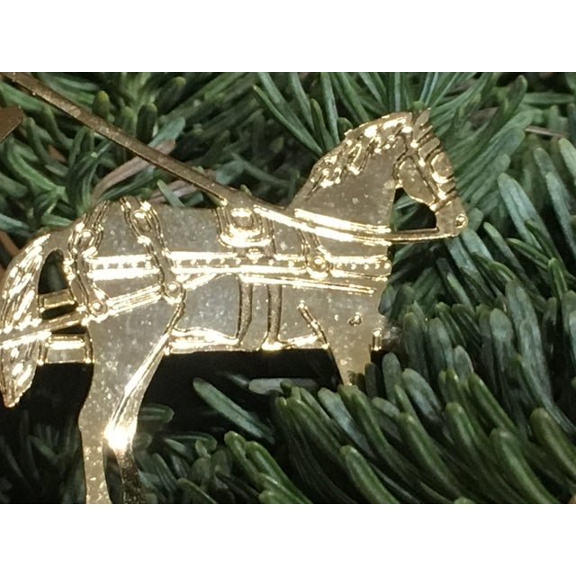 American Horse & Carriage Christmas Tree Ornament For Sale - Image 3 of 8