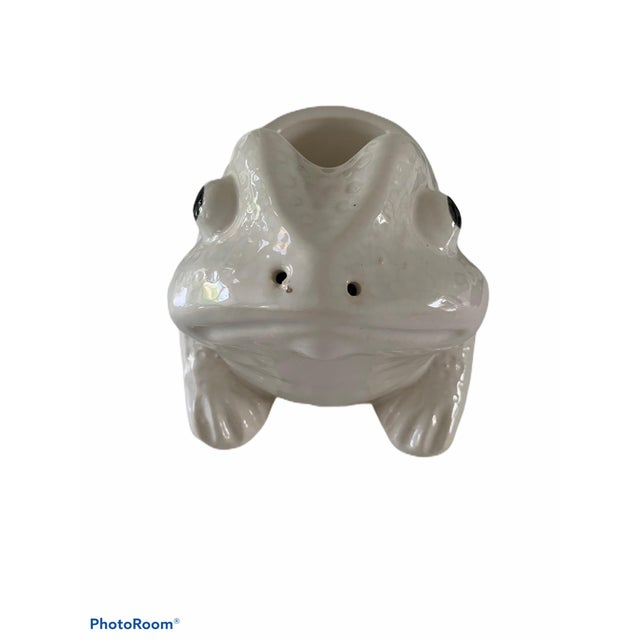 Jean Roger Style Frog Planter For Sale - Image 4 of 7