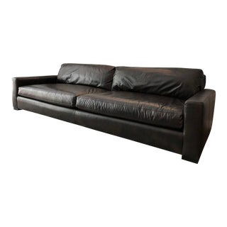 Restoration Hardware Maxwell Leather Sofa For Sale