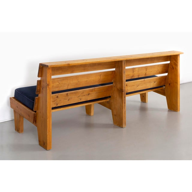 1950s Bench for Marie Blanche Hotel by Charlotte Perriand For Sale - Image 5 of 11