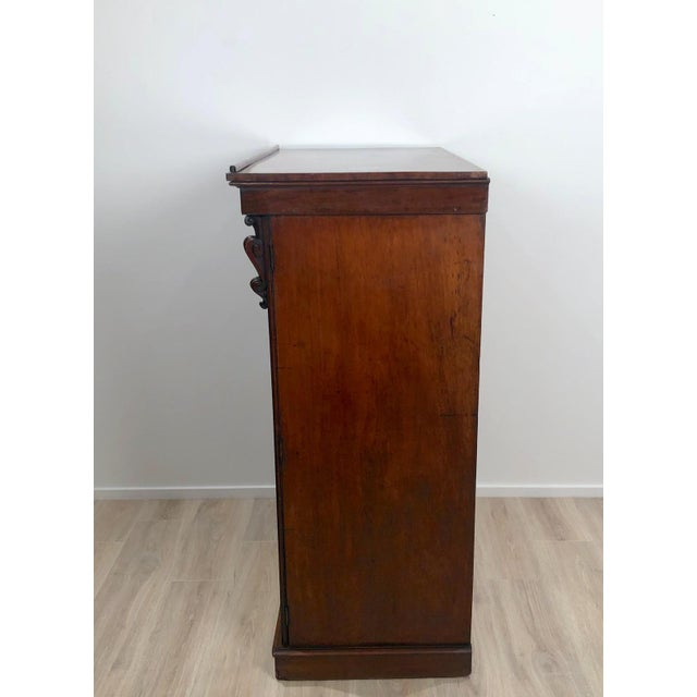 Brown Wellington Secretary Chest of Drawers, England Circa 1840 For Sale - Image 8 of 11