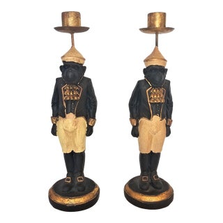 1970s Vintage Monkey Candlesticks - a Pair For Sale