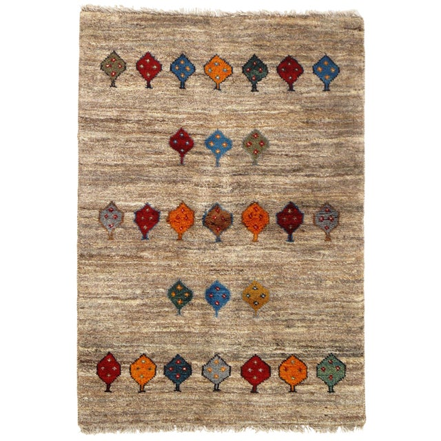 "Pasargad NY Persian Gabbeh Rug - 2′6″ × 3′9"" For Sale"
