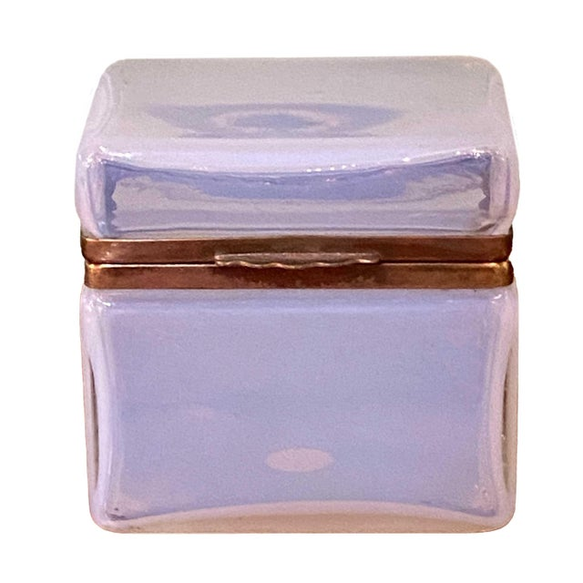 Glass Mid 20th Century Murano Clear White Box For Sale - Image 7 of 7