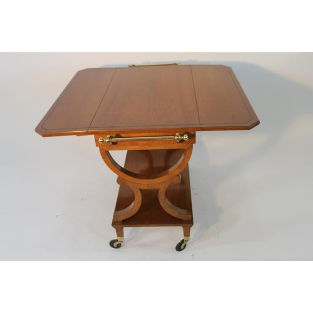 Kaplan Furniture Beacon Hill Serving Cart For Sale - Image 5 of 5