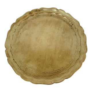 Gold Italian Tray For Sale