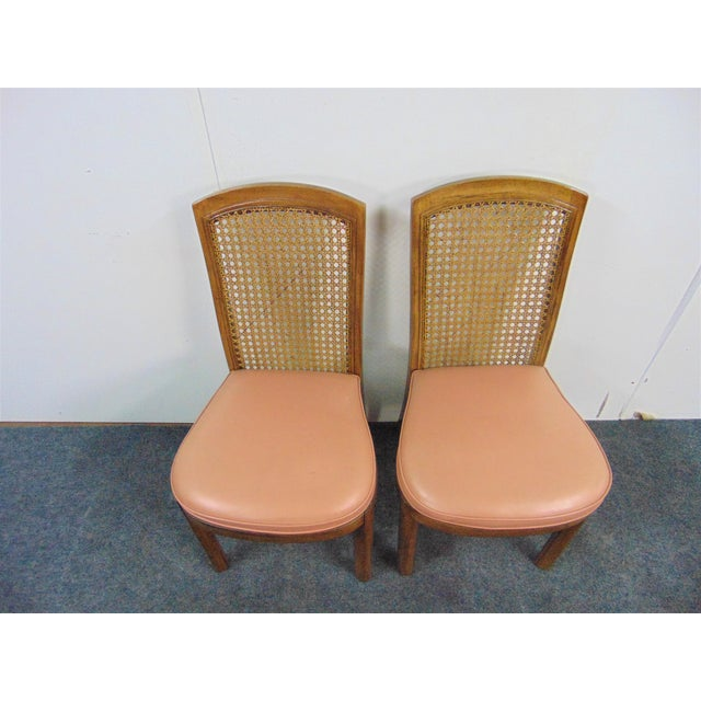 Drexel Mid Century Modern Fruitwood Caned Dining Chairs - Set of 8 For Sale In Philadelphia - Image 6 of 7