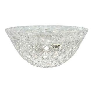 Sculptured Irish Cut Crystal Bowl For Sale