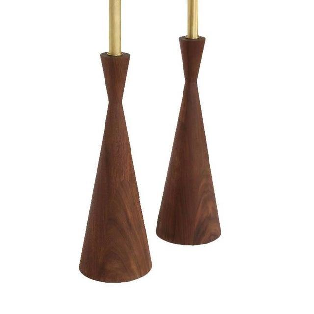 Customizable Samson Turned Walnut Table Lamps - Image 4 of 8