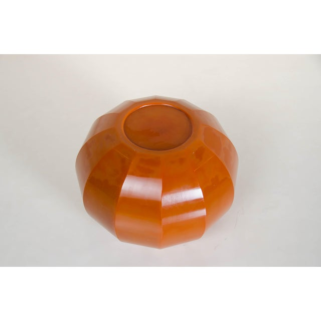 2010s Mila Peking Hand Blown Glass 12 Facet Jarlet by Robert Kuo For Sale - Image 5 of 7