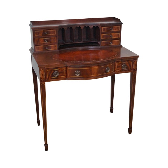 1940s Flame Gany Federal Style Writing Desk