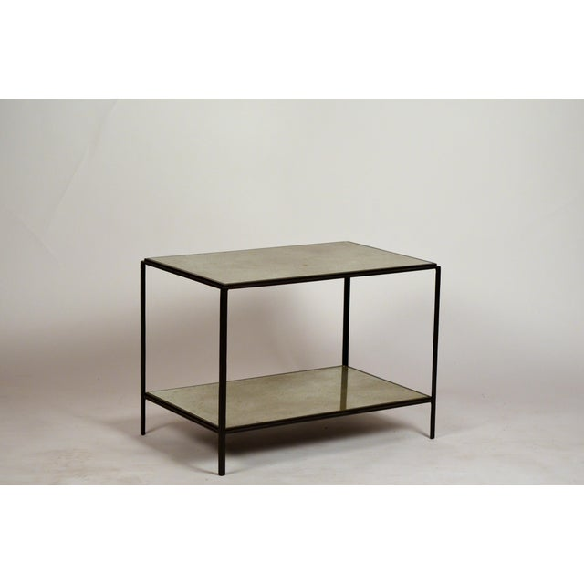 DESIGN FRERES 'Rectiligne' Mirrored End Tables by Design Frères - a Pair For Sale - Image 4 of 9