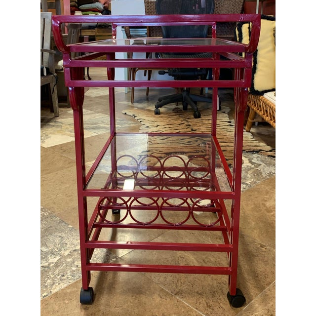 Late 20th Century Art Deco Bar Cart For Sale - Image 4 of 9