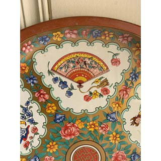 Midcentury Asian Chinoiserie Metal Tray Preview