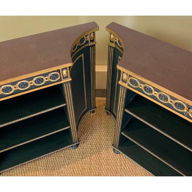 1950s Pair of Regency Style Bookcases For Sale - Image 5 of 12