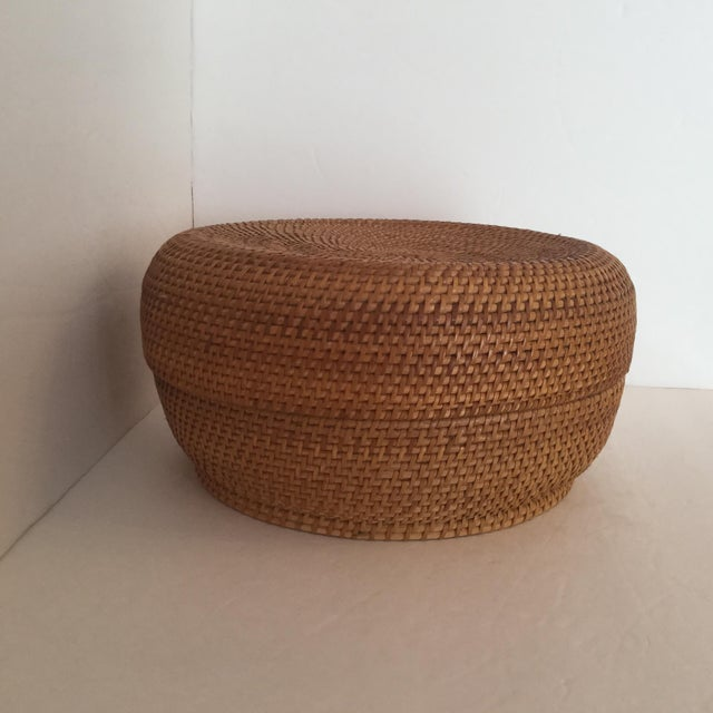 Woven Basket & Lid For Sale - Image 11 of 11