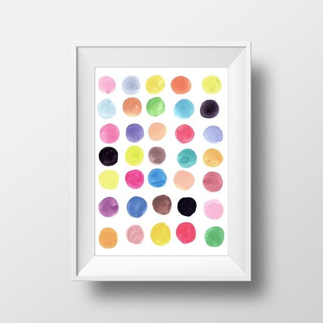 """""""Circles 1"""" Original Abstract Painting - Image 2 of 2"""