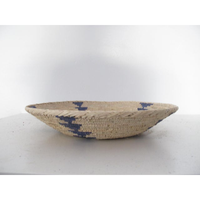 Native American Style Blue Arrow Basket - Image 4 of 4