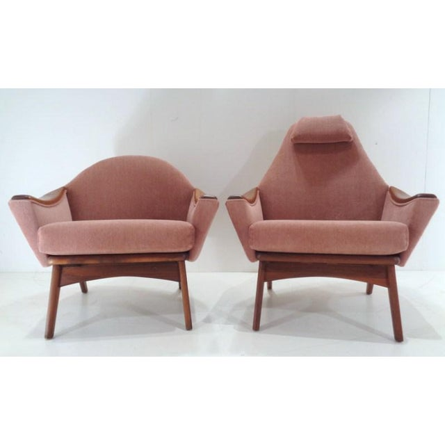 Adrian Pearsall Mid Century His & Hers Adrian Pearsall Lounge Chairs For Sale - Image 4 of 13