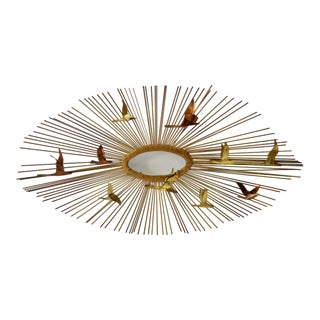 Brutalist Jere Style Torch Cut and Brazes Wall Sculpture For Sale