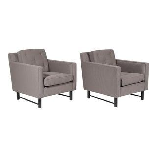 Pair Of Edward Wormley Lounge Chairs By Dunbar For Sale