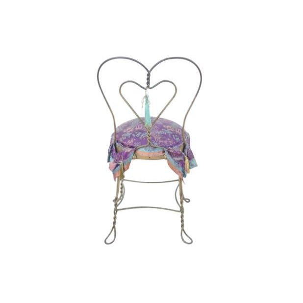 Chinoiserie Style Heart Ice Cream Accent Chair - Image 5 of 6